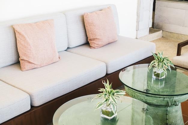 Oreiller canapé et chaise