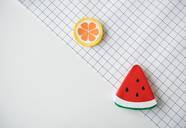 Origami intéressant fruit santé melon coupe du papier