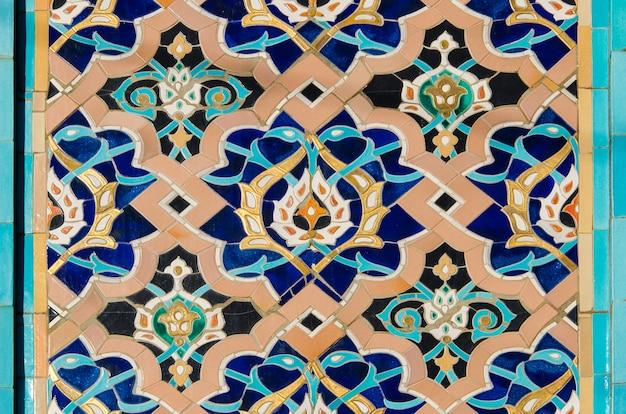 Ornement arabe - décoration d'une mosquée à saint-pétersbourg