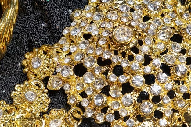 Ornement décoratif d'accessoires thai vintage, attache de diamant
