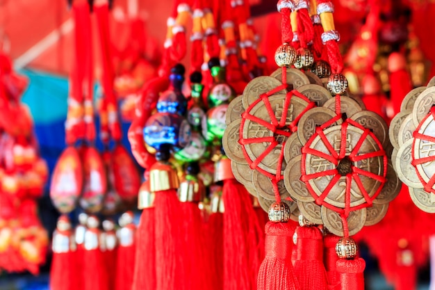 Ornement décoratif du nouvel an chinois, pièces d'or