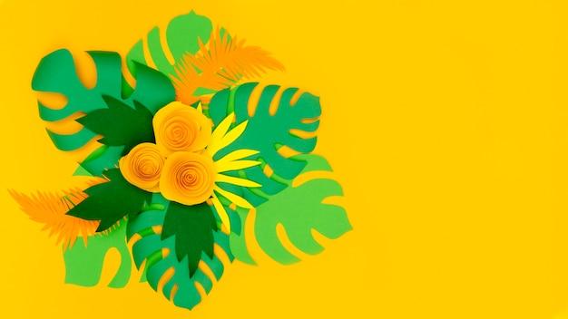 Ornement floral élégant
