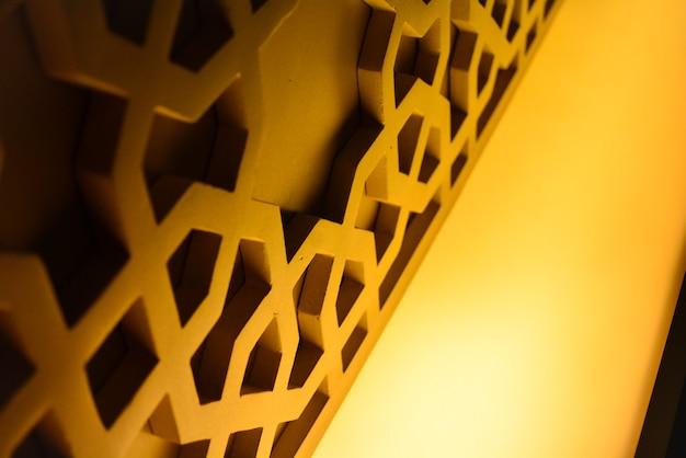 Ornement islamique de l'intérieur de la mosquée qui est la culture arabe