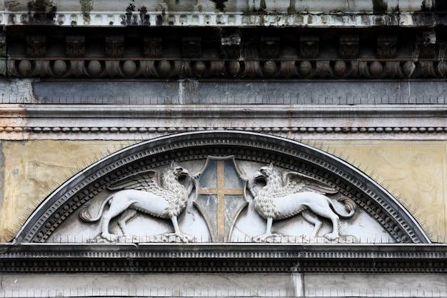 Ornements sur la construction à venise, italie