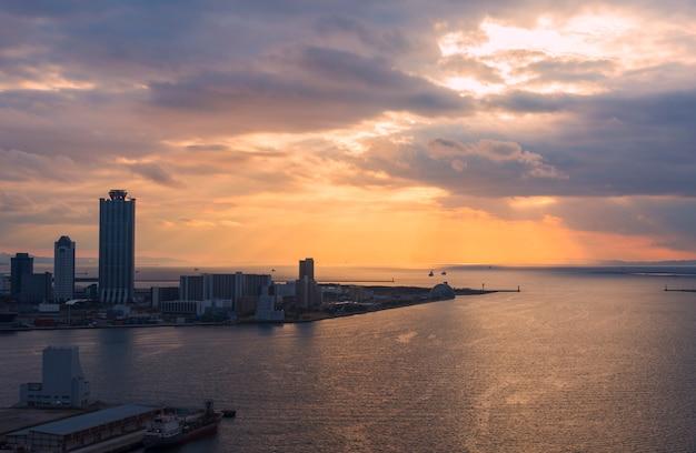 Osaka-wan vue sur le tempozan, osaka japon