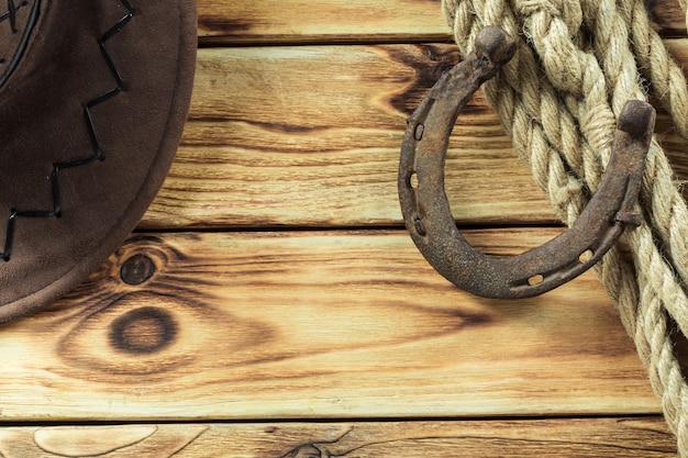 Ouest américain toujours la vie avec le vieux fer à cheval