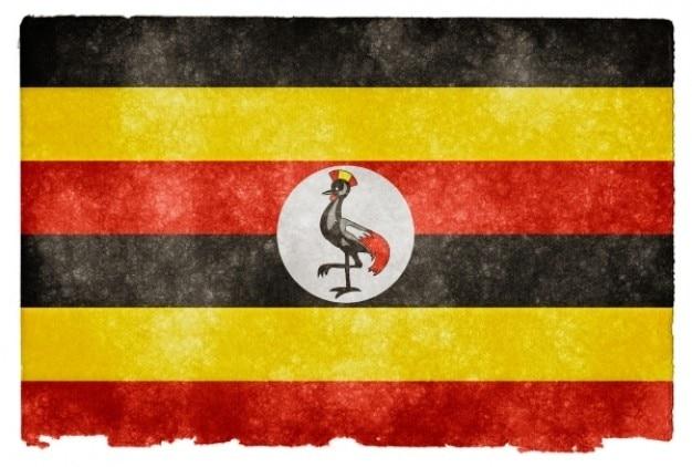 Ouganda drapeau grunge