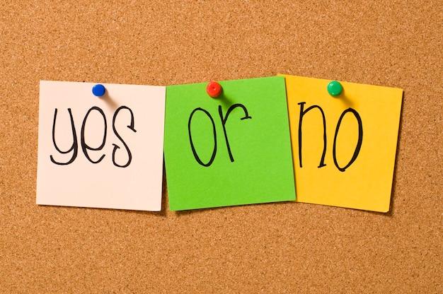 Oui ou non