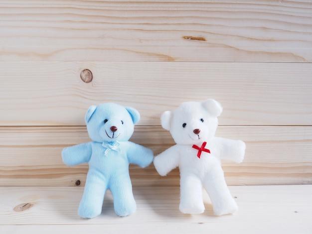 Ours en peluche bleu et blanc