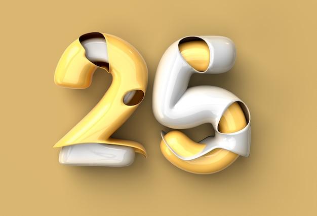 Outil de stylo de célébration du 25e anniversaire créé un tracé de détourage inclus dans jpeg facile à composer.