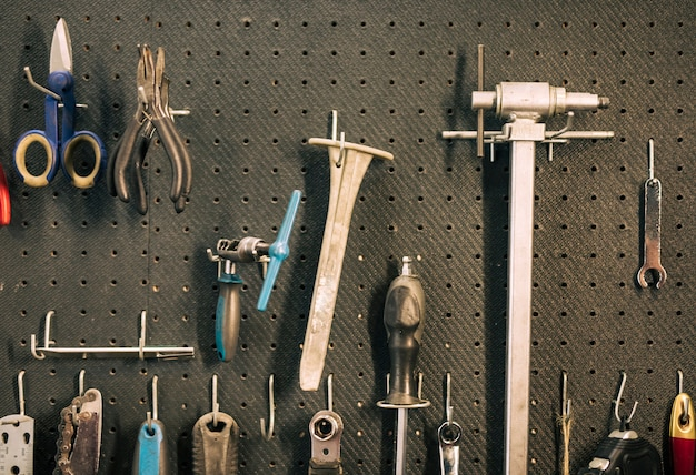 Outils d'un atelier de réparation