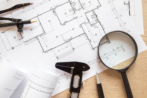Outils de dessin sur blueprint