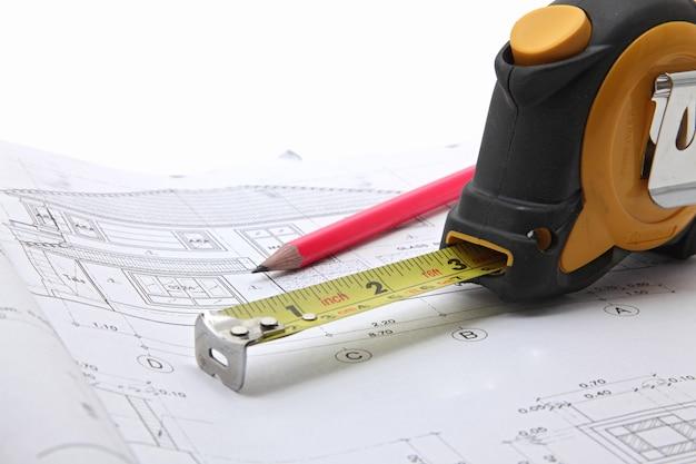 Outils avec plan de construction