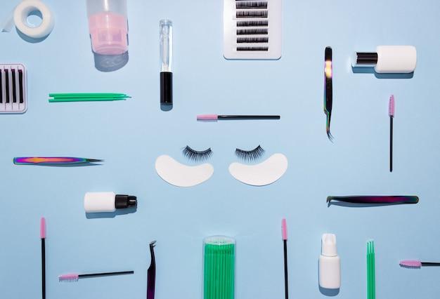 Outils pour l'extension de cils. cils artificiels, soins personnels