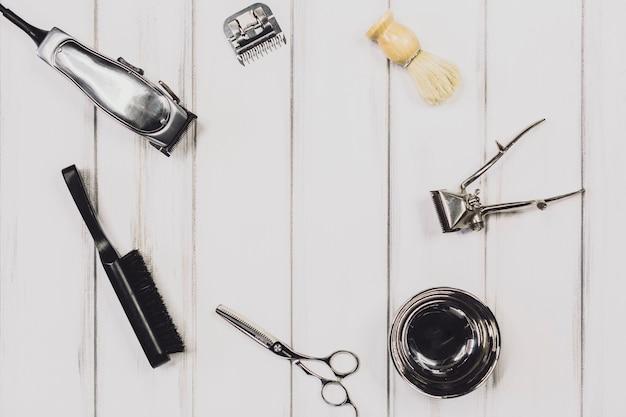 Outils pour le toilettage dans le salon de coiffure