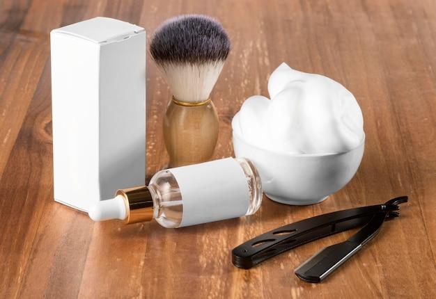 Outils de salon de coiffure haute vue avec boîte d'emballage