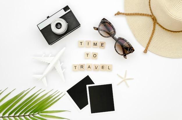 Outils de voyage avec message