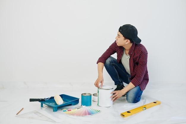 L'ouverture de l'homme peut de peinture