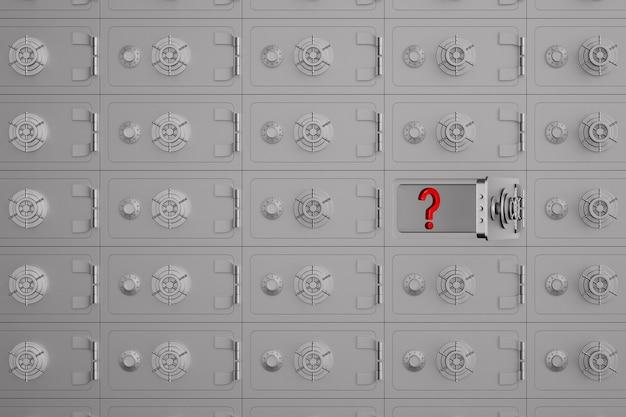 Ouvrez le coffre-fort et question sur blanc