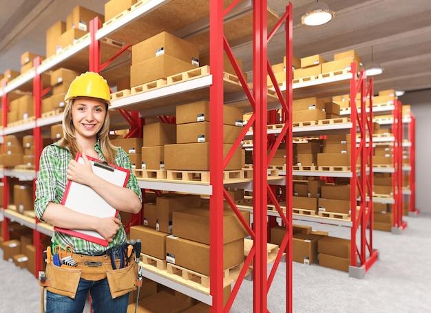 Ouvrier en entrepôt