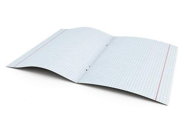 Ouvrir la feuille de cahier d'écriture dans une cage isolée