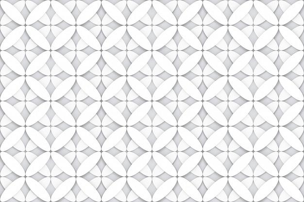 Ovale moderne sans couture dans le mur de tissu design forme fleur