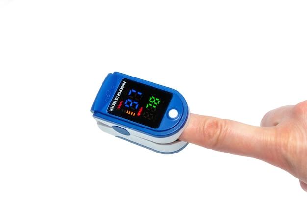 Oxymètre de pouls utilisé pour mesurer la fréquence du pouls et les niveaux d'oxygène