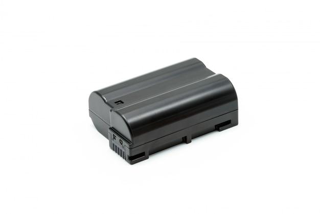 Pack de batterie noire au lithium-ion isolée