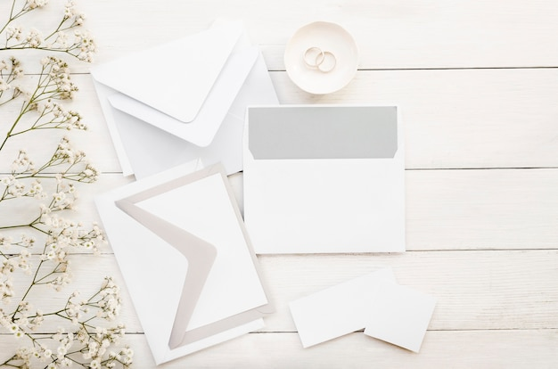 Pack d'invitation de mariage minimaliste