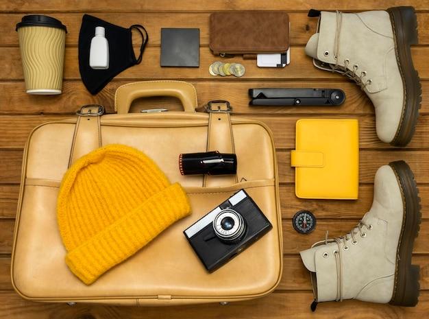 Pack nature morte de voyage