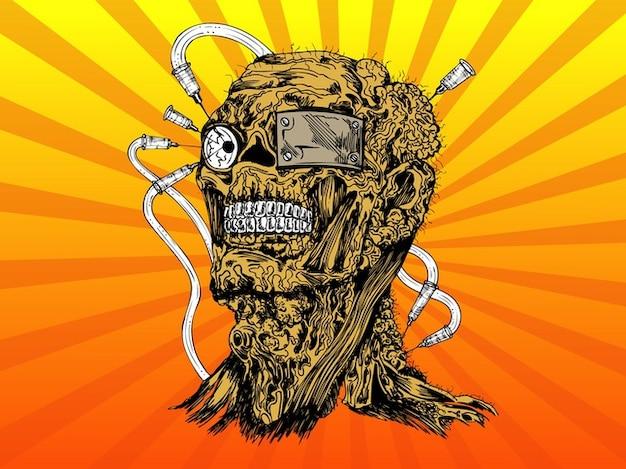 Pack vecteur mutant effrayant effrayant morts