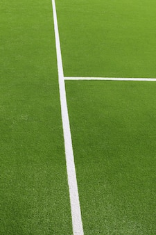 Paddle tennis herbe verte texture lignes blanches