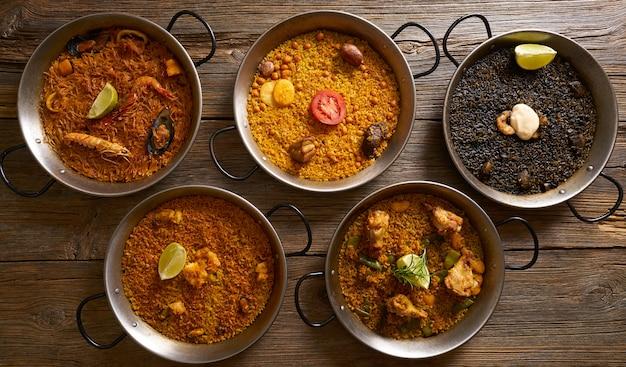 Paellas cinq recettes de riz d'espagne