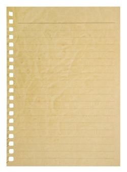 Une page arrachée du cahier