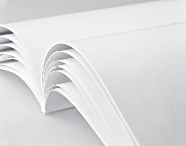 Page blanche dans un livre blanc
