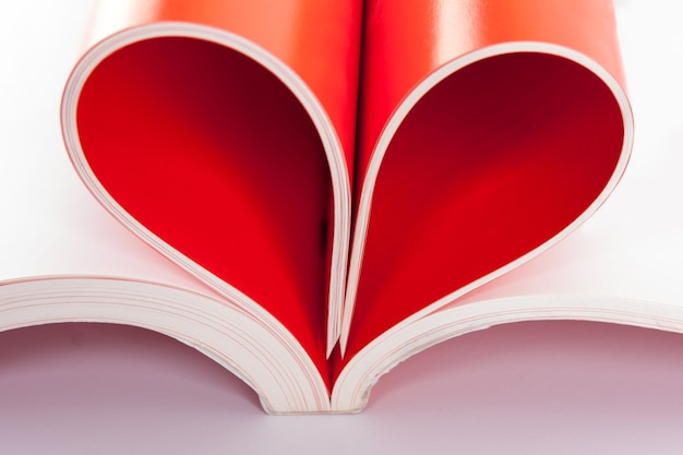 Pages en forme de coeur