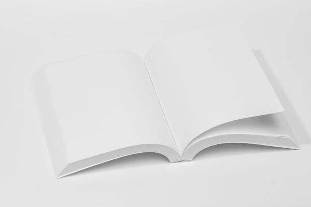 Pages ouvertes haute vue du livre