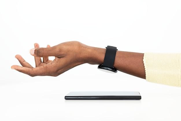 Paiement sans contact avec la technologie smartwatch
