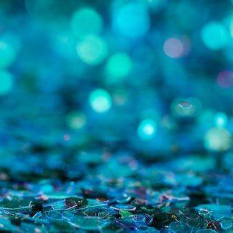 Paillettes bleues éblouissantes
