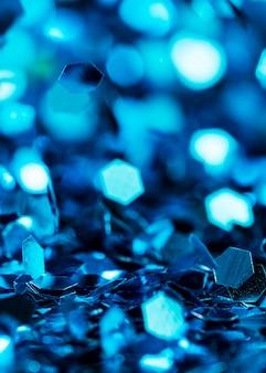 Paillettes bleues scintillantes
