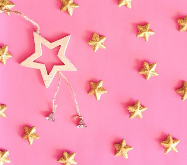 Paillettes en forme d'étoile dorée