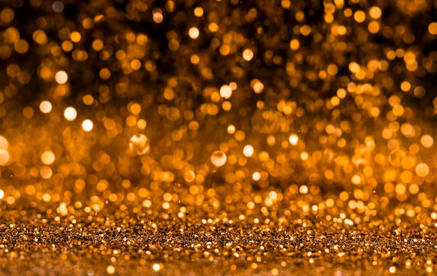 Paillettes d'or brillant