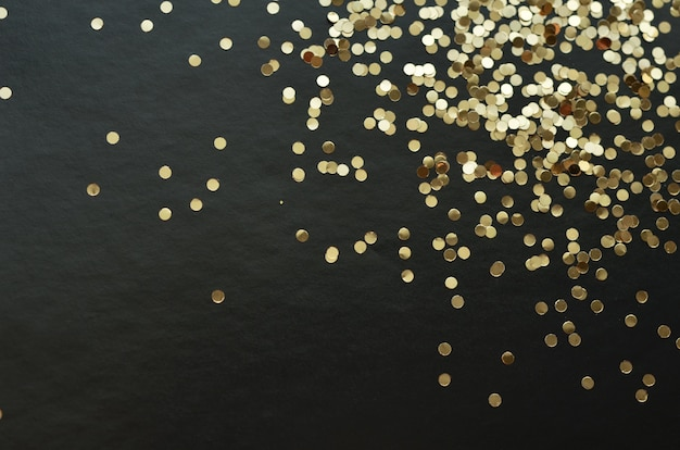 Paillettes d'or scintille