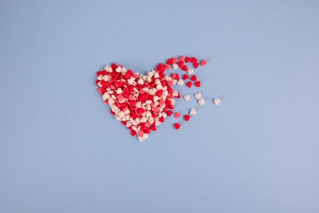 Paillettes de petits coeurs arrose