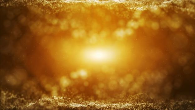 Paillettes De La Poussière D'or Glow étincelle étincelle Abstrait Pour La Célébration Photo Premium