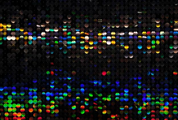 Paillettes rondes colorées