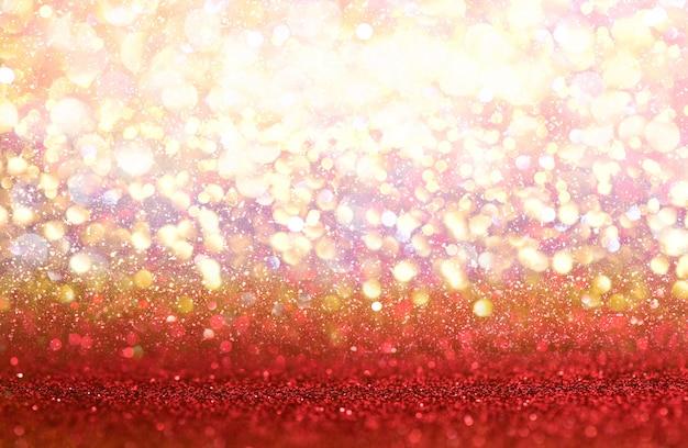 Paillettes rouges lumières vintage texture abstrait bokeh. défocalisé