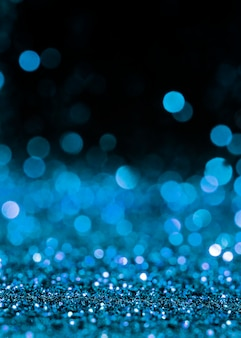 Paillettes scintillantes bleues