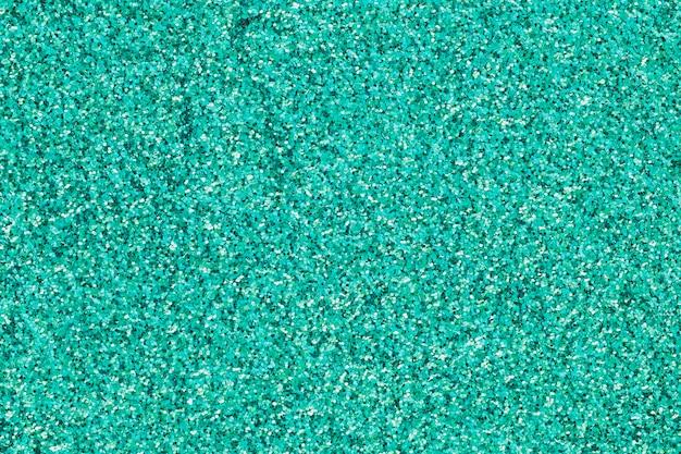 Paillettes turquoise coloré dans la pile