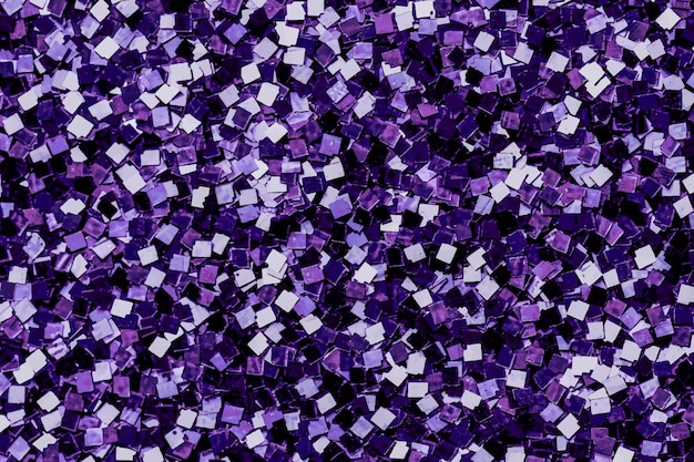 Paillettes violettes brillantes texturées